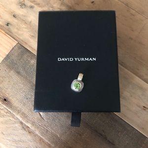 David Yurman Peridot Stone w/ Sterling & 14K Gold